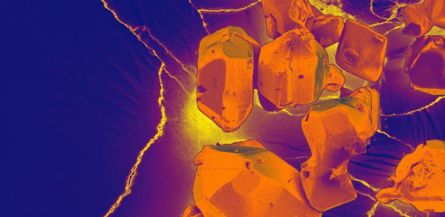 SEM image of MOF crystals